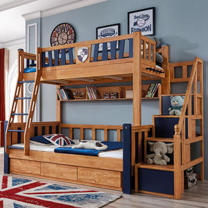 Wooden Kids Bunk Bed Children Double Bunk Bed Cheap Bed Wholesale
