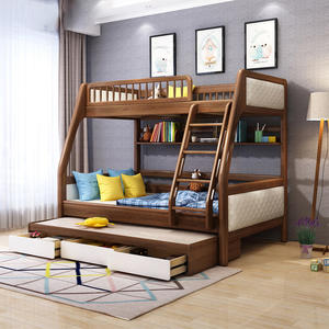 Hot Sale Modern Indoor Bed Wooden Bedroom Bunk Bed Children Bedroom Furniture Sets