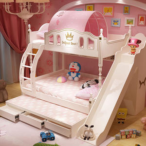 Hot Sale Children Set Princess Bunk Bed With Slide