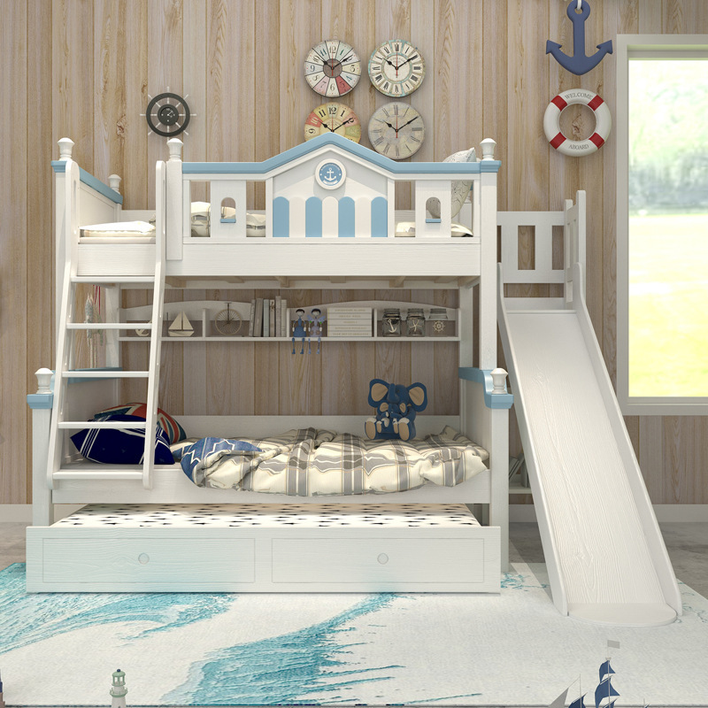 Solid Wood Bunk Bed Kids Bunk Bed With Slide