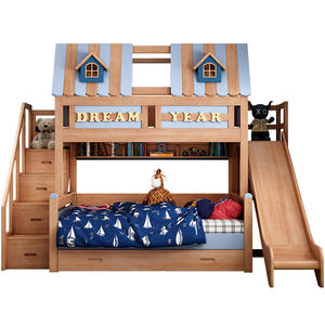 Boy Bedroom Furniture Set Kids Child Bunk Bed With Slide