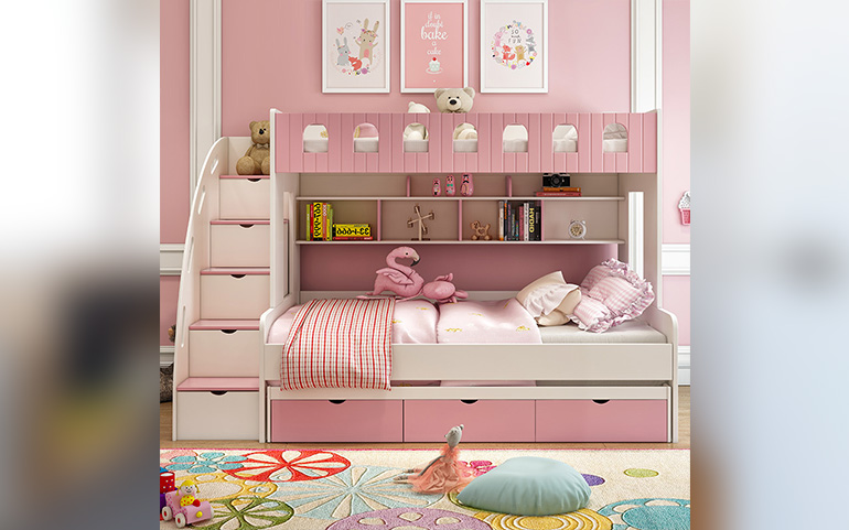 Funky Children Bunk Bed With Wardrobe Designs