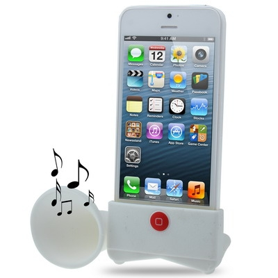 High quality wholesale silicone mobile horn speaker