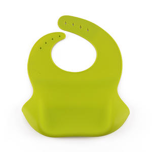 Customized OEM New Style Silicone Baby Bib For Baby With Soft Adjustment Neckband