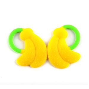Silicone Baby Teething Toys Silicone Fruit Banana Teether