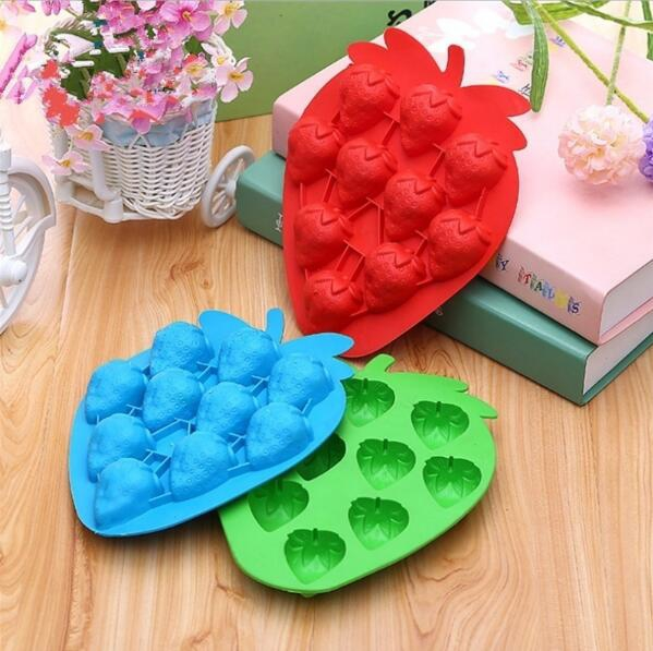 Silicone fruit shape ice tray Custom Silicone Summer Ice Cube Tray