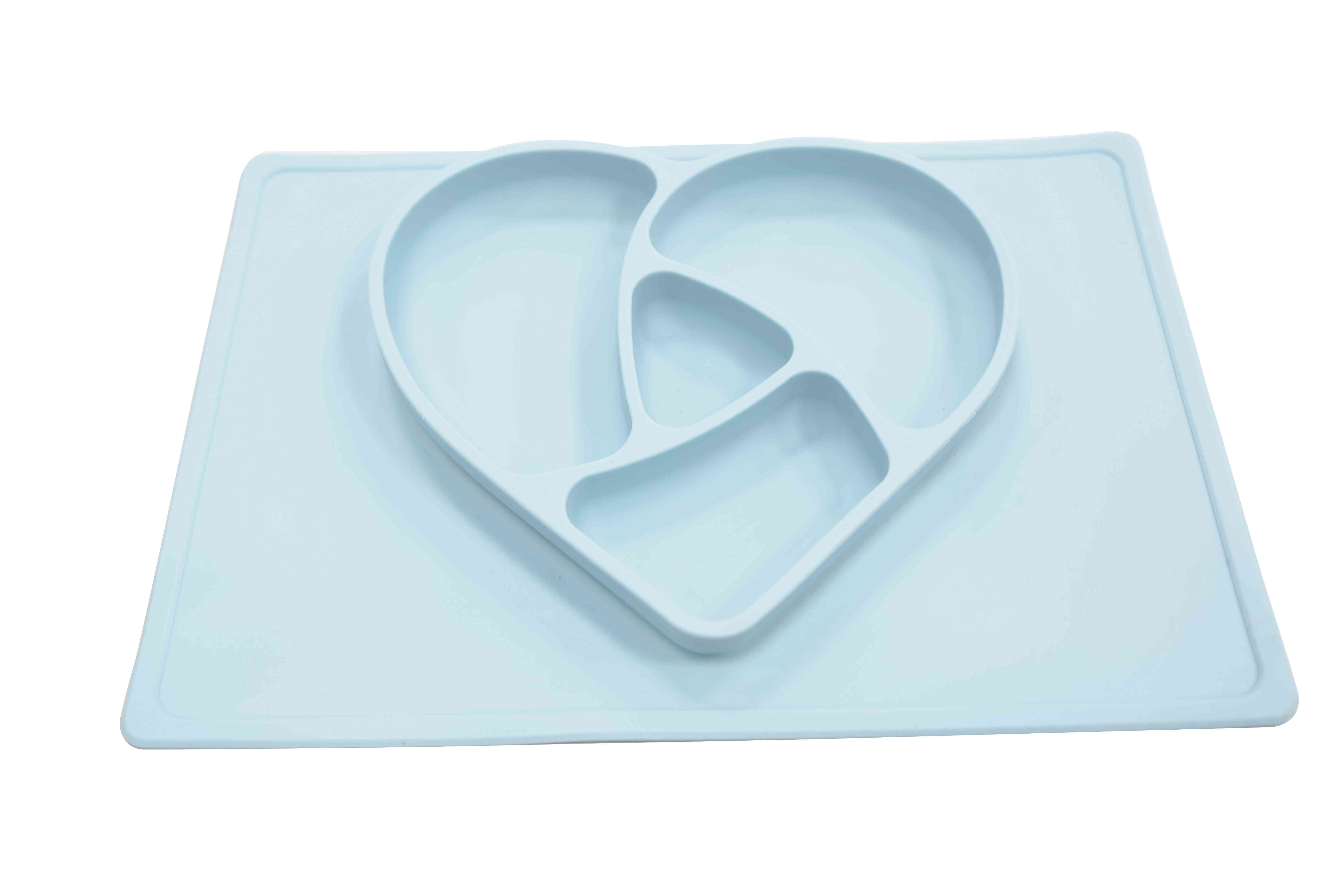 Love silicone divided plates for toddler children kids infants easily wipe clean