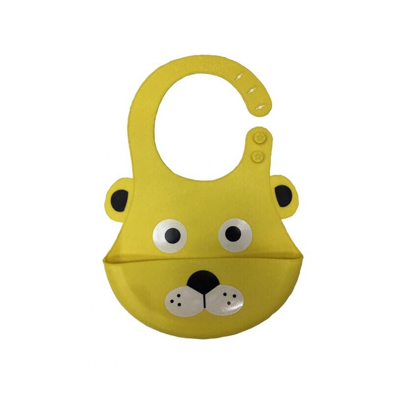 Environmentally friendly wholesale OEM animal silicone baby bib