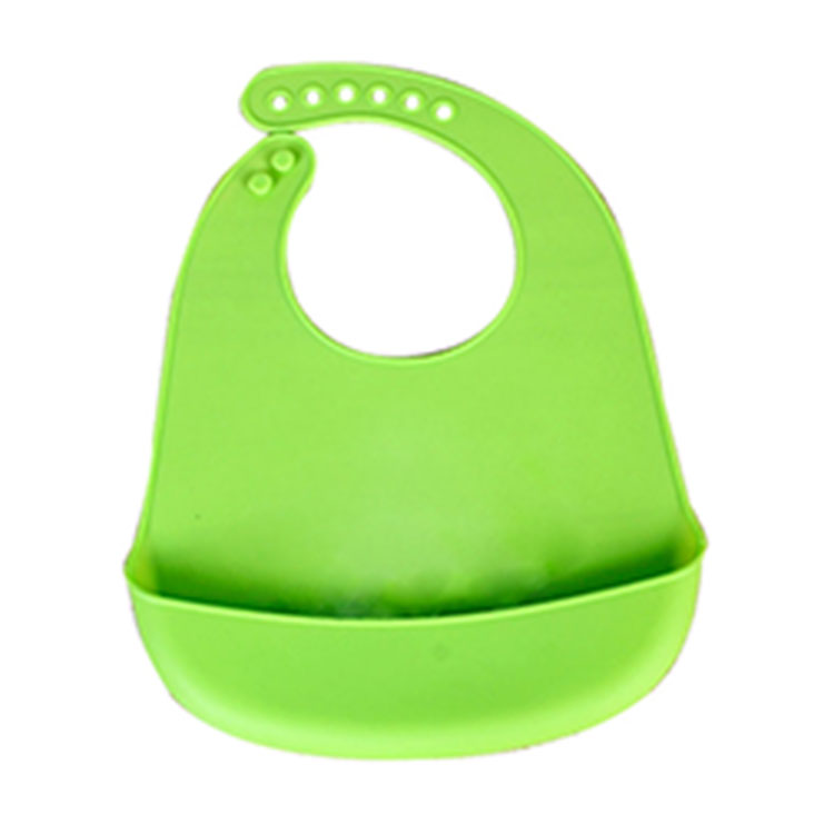 OEM wholesale waterproof silicone baby bib for grease proofing