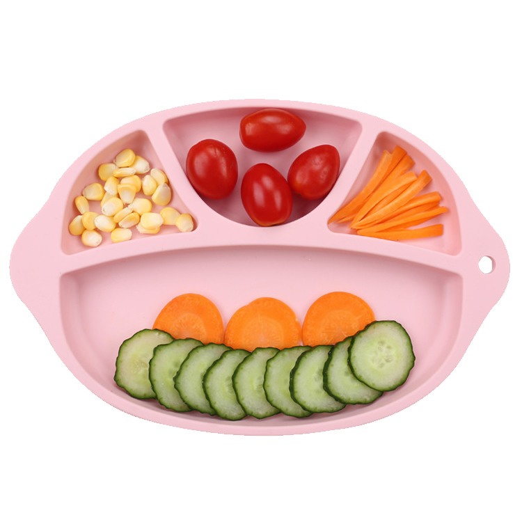 Wholesale non slip silicone placemat plate for baby feeding