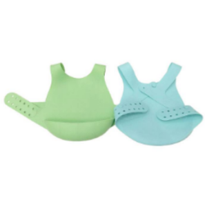 Wholesale Waterproof Silicone Baby Bibs Spend Less Time Cleaning After Meals