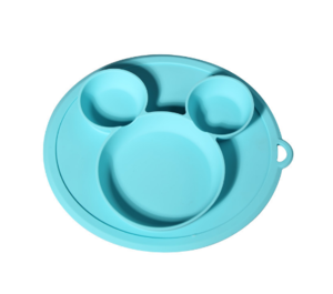 Wholesale BPA Free Mickey Silicone Plates Easily Wipe Clean