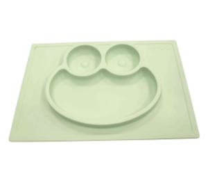 Customized Unbreakable Cute Frog Silicone Divided Plate