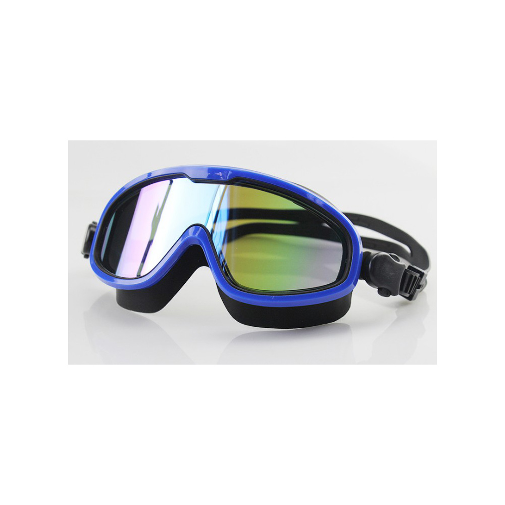 China factory large frame OEM customized best water sport silicone swimming glasses for sporter