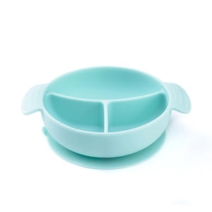 New design waterproof food silicone suction baby bowl snack dish for kids