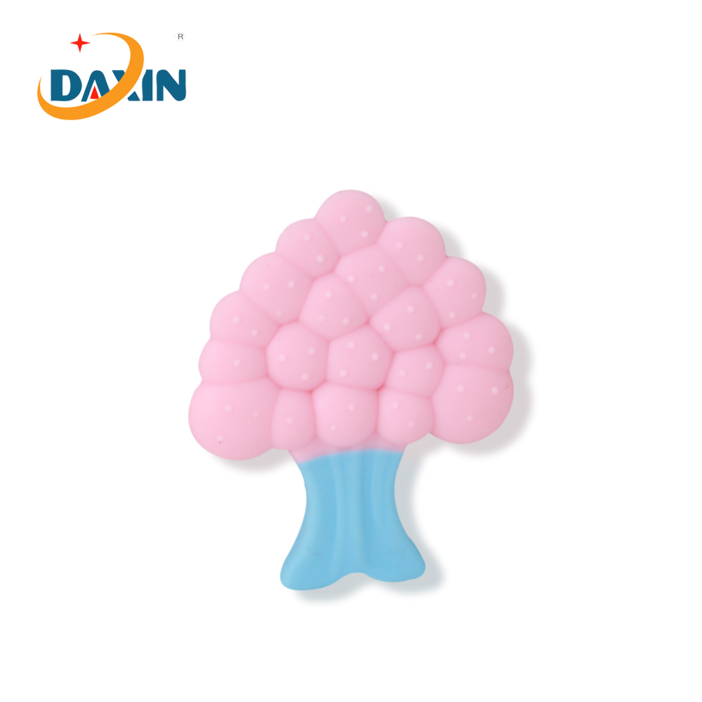 New design cute tree FDA chewing toys silicone baby teether