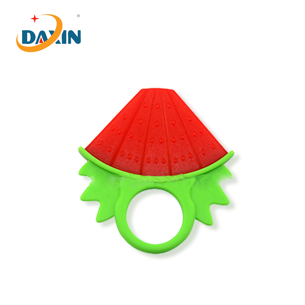 BPA Free Food Grade Watermelon Design Silicone Baby Teether