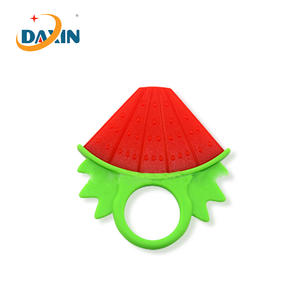 Food grade special design watermelon silicone baby teether