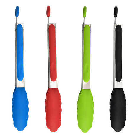 Guangdong silicone manufacture ,FDA food grade silicone kitchen tong for cooking,soft hand feel,  BPA free