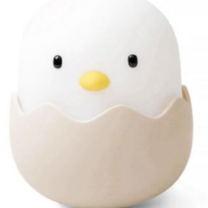 Smart sensor LED silicone egg cartoon lamp chicken night light for baby kids birthday gift