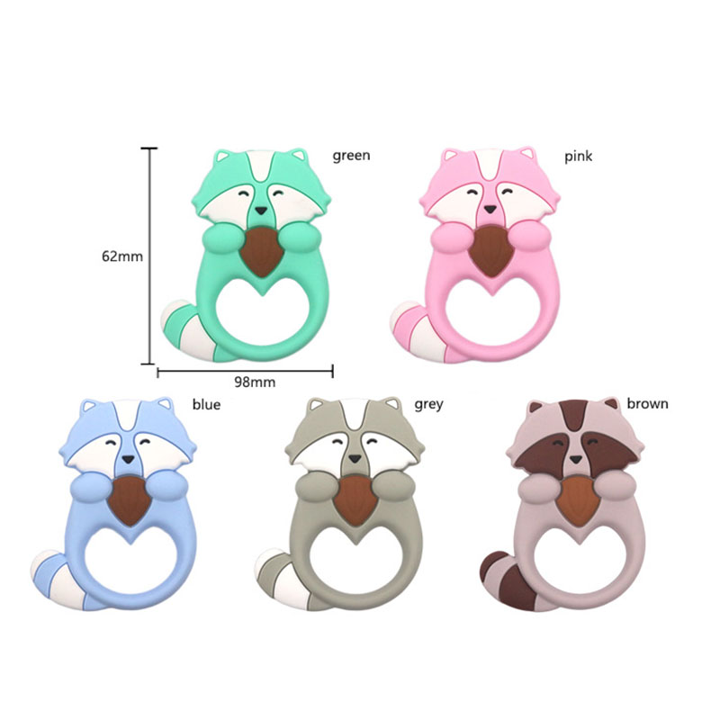 FDA food grade Silicone baby teething toys silicone infant animal teether