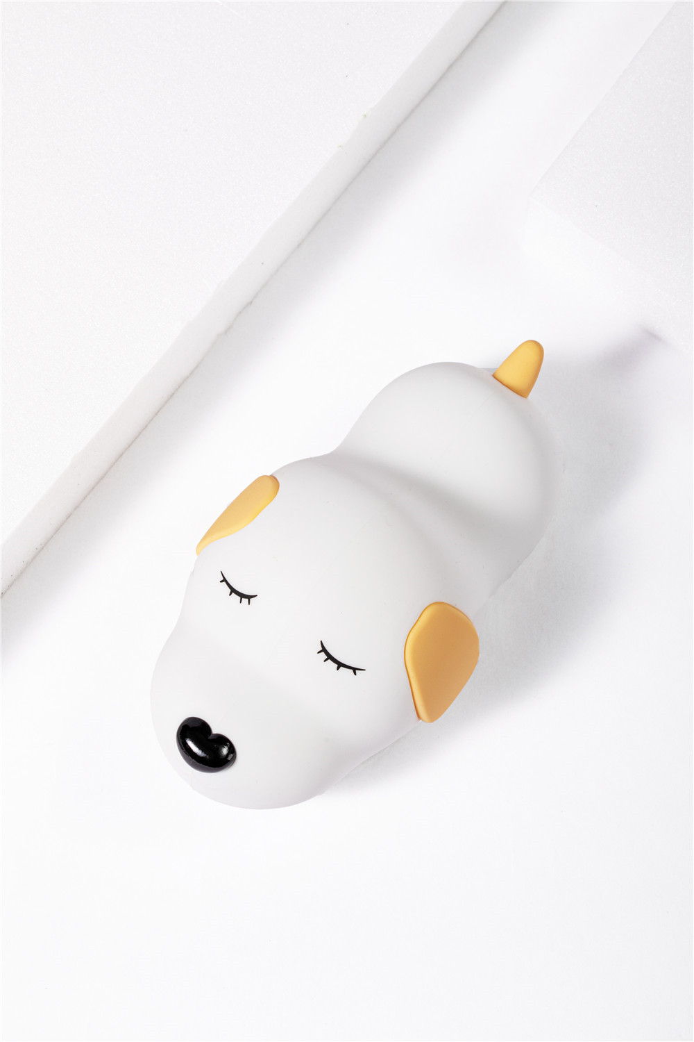 lovely chargeable colorful silicon puppy night lamp