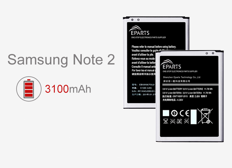 factory wholesale Samsung Note 2 battery price