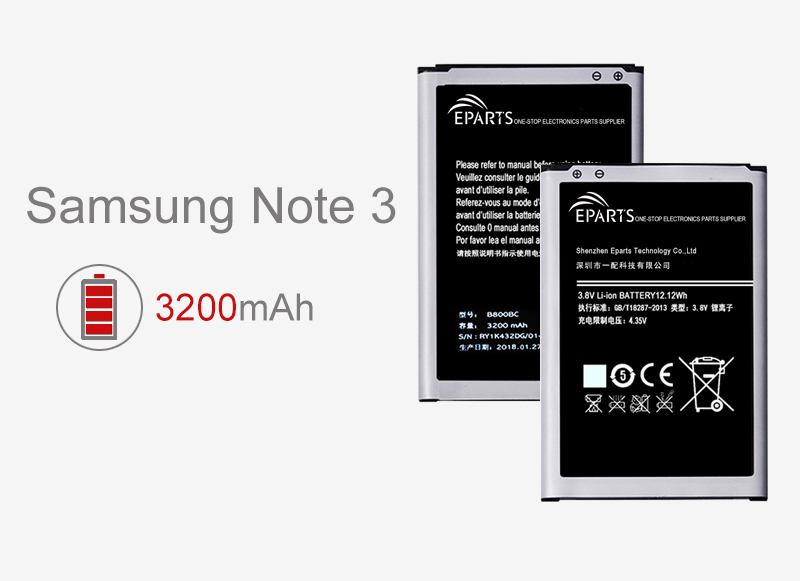 high quality Samsung Note 3 battery replacement