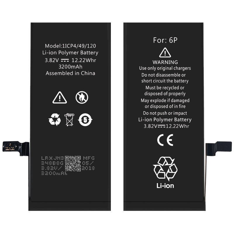 Custom absolutely 100% cobalt high capacity iPhone 6 Plus battery factory