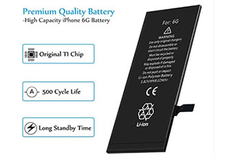 Why do mobile phones use lithium cell phone battery instead of dry batteries?