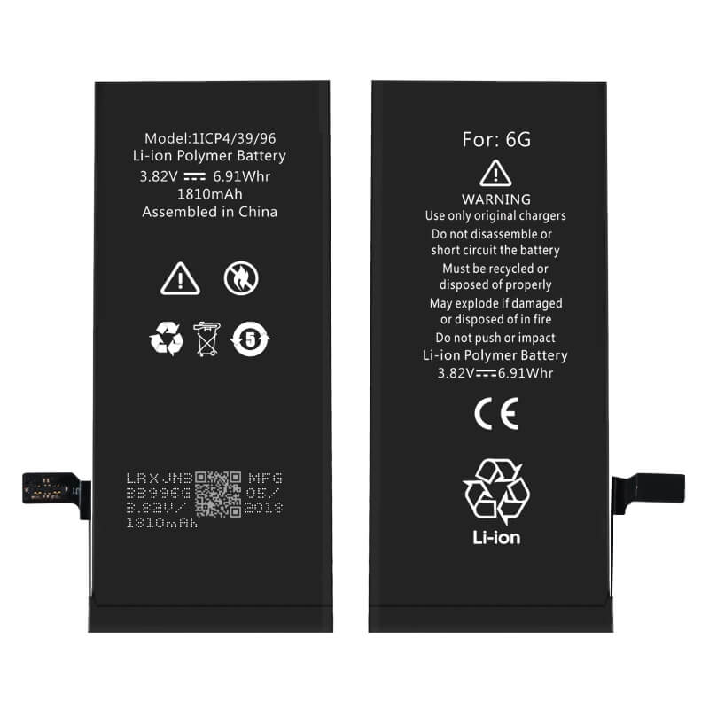 High safety and large capacity iPhone battery wholesale for iPhone 6G