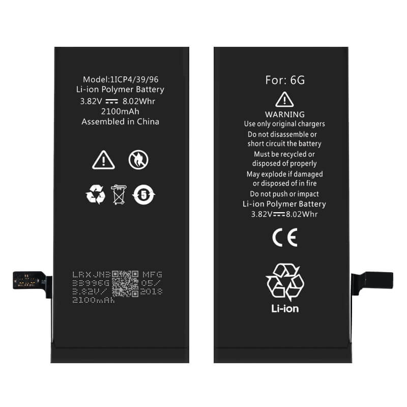High capacity iPhone 6G phone battery wholesale