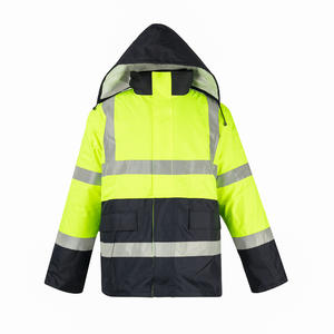 PVC 1703 Multi-functional Cotton-padded Waterproof Suit Waterproof Coat supplier