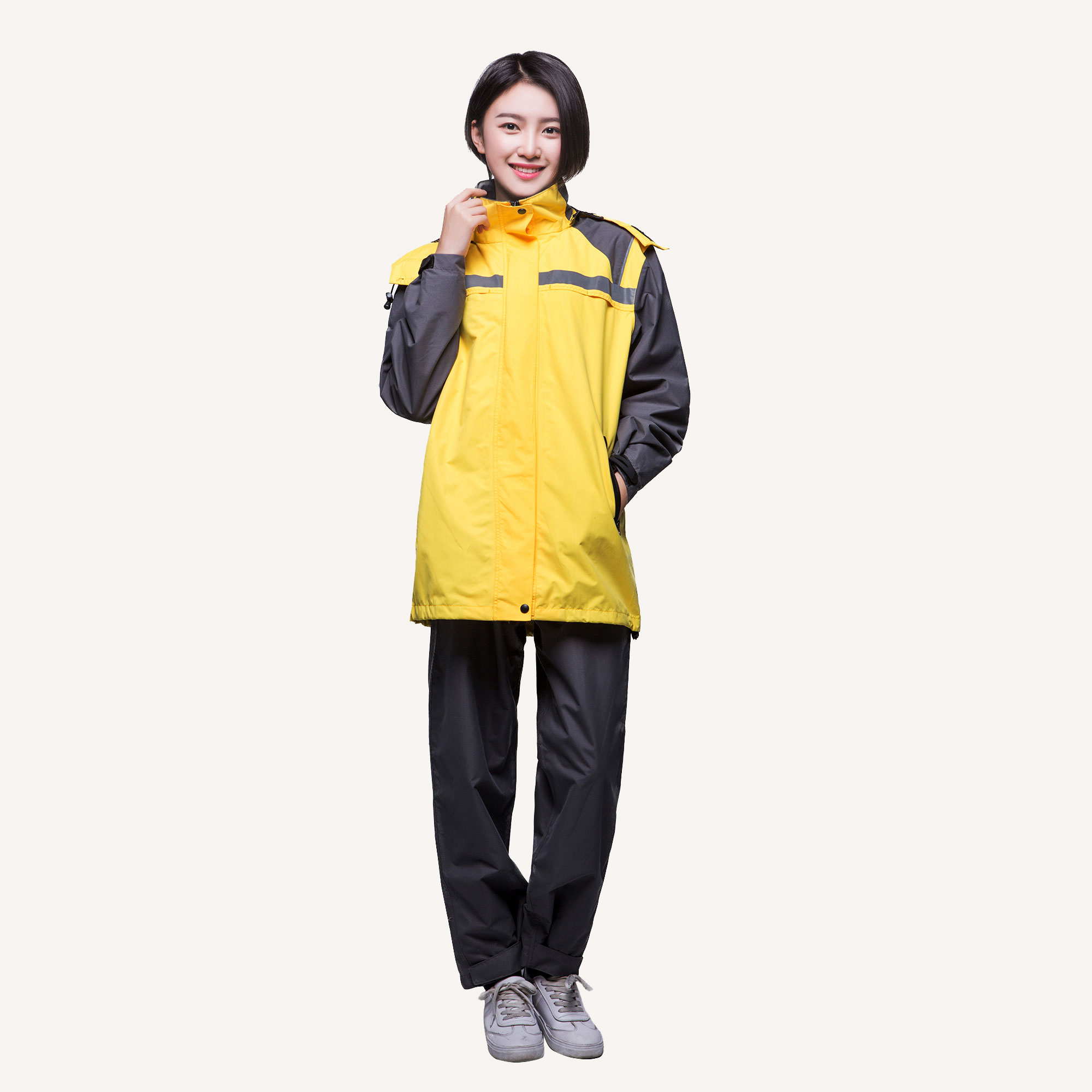 7748 Waterproof Sports Suit Womens Rain Jacket
