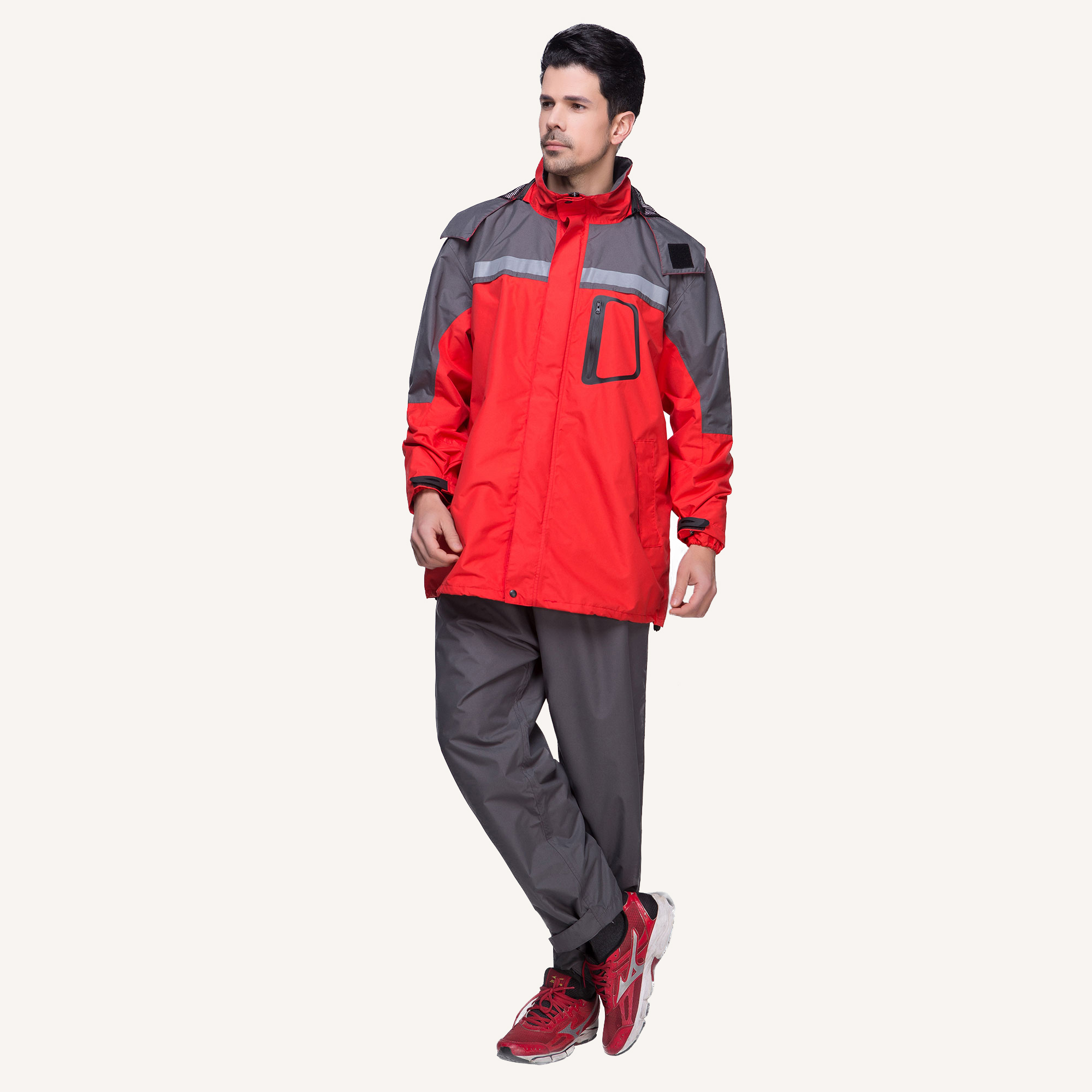 6850 Multi-color Sports Suit Waterproof Rain Jacket