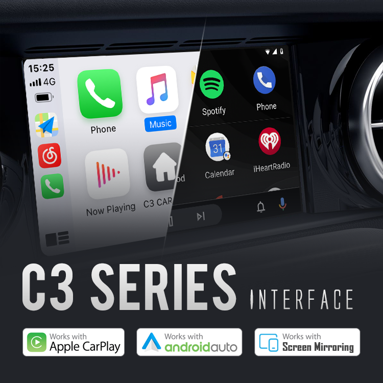 Wireless CarPlay/Android Auto/Mirroing OE interface-NEW Gen. C3 series
