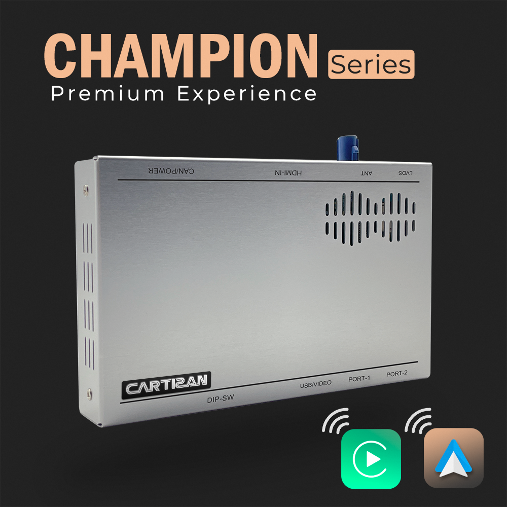 CHAMPION Series-Wireless CarPlay and Android Auto OEM retrofit interface-Premium Experience