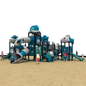 Big Plastic Slides Ocean Theme Outdoor Playground HS18103W-O
