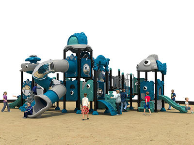 Outdoor Plastic Playground Equipment HS18103W-O