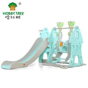 Hot selling playground equipment Indoor Plastic Slide And Swing manufacturer