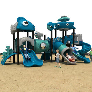 Ocean Animal Theme Outdoor Slide Amusement Park For Kids