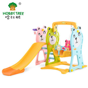 Three Beat Cheap Indoor Plastic Slide And Swing Set