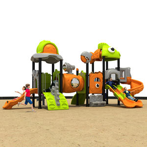 residential Kids Outdoor Equipment Three Slide Playground HS18108W-O exporter