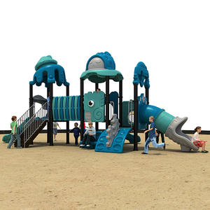 high quality ocean animal theme Kids Outdoor Playground Slide equipment exporter