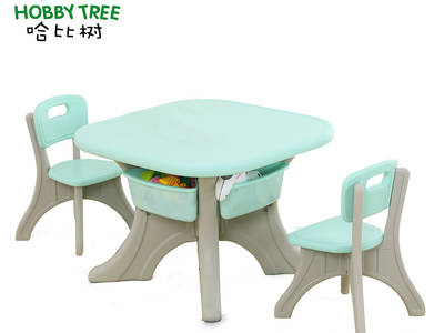 Total plastic table and chair-only plastic no screws
