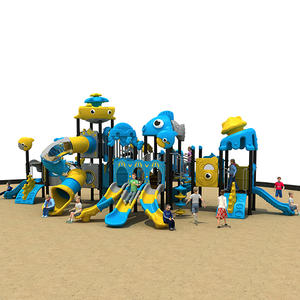 2019 Ocean Theme Amusement Park Equipment With Slide HS18119W-O