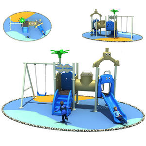 Outdoor Playground Slide And Swing