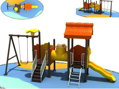 Outdoor Playground Slide and Swing for Children