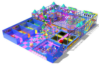 Indoor Playground for Sale Purple and Blue