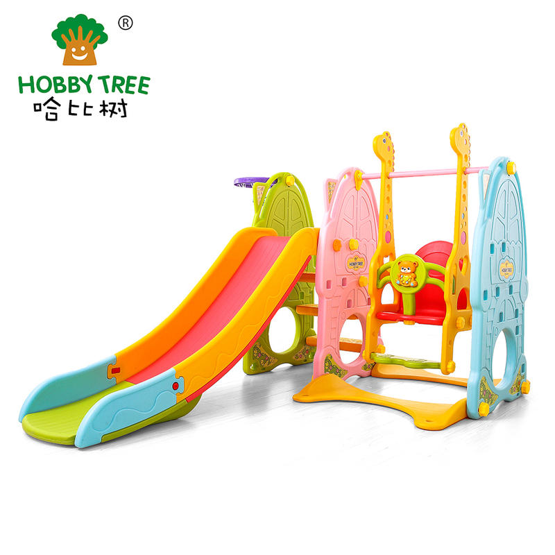 Plastic strong safe classic indoor slide and swing set for wholesale